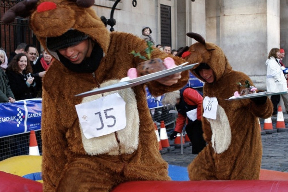 Comment participer à la course de Christmas Race Pudding ?