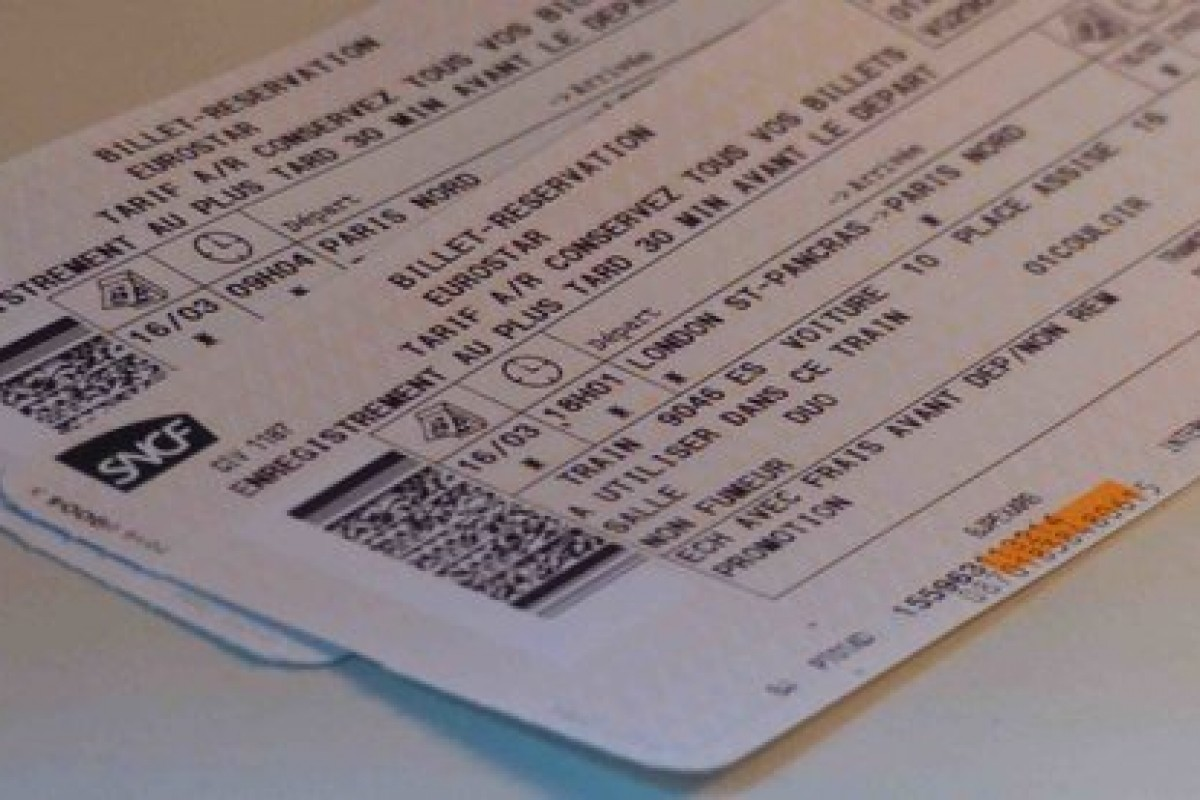Image Billet De Train acheter un billet eurostar d'occasion