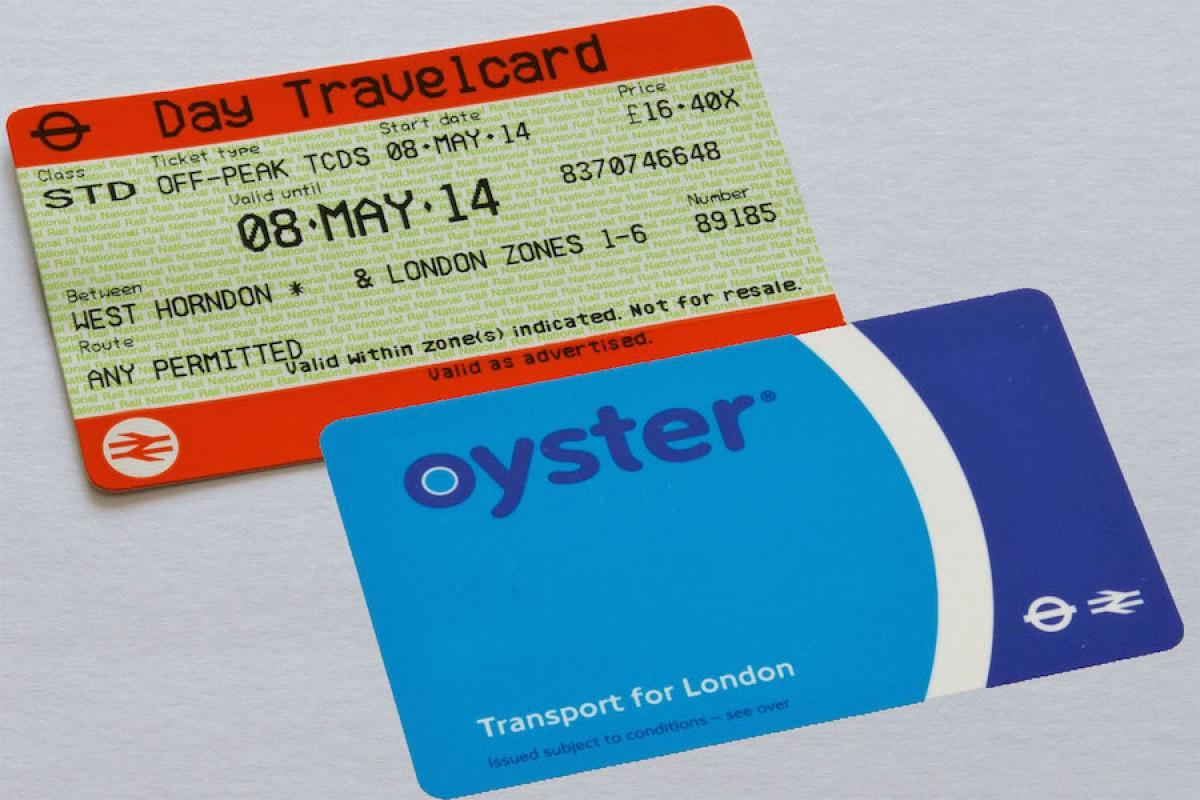 Se Deplacer A Londres Oyster Card Ou Travelcard