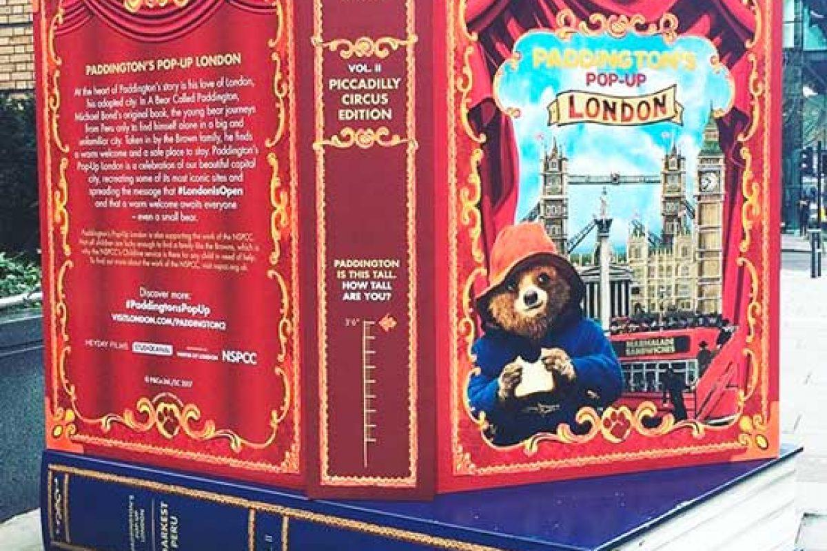 Où voir les Paddington's Pop-Upbook à Londres ?