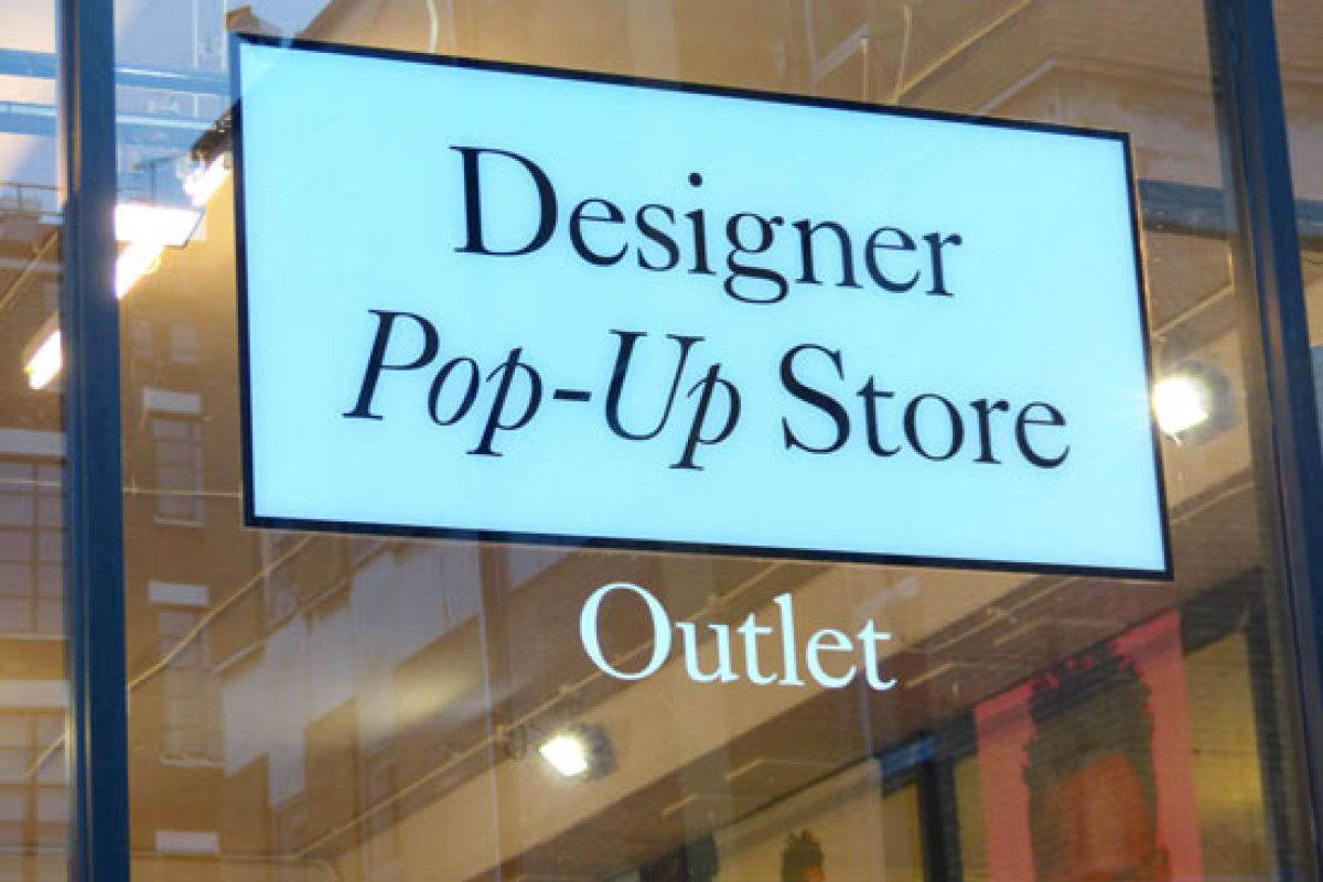 Designer Pop Up Store un outlet haut de gamme à Shoreditch