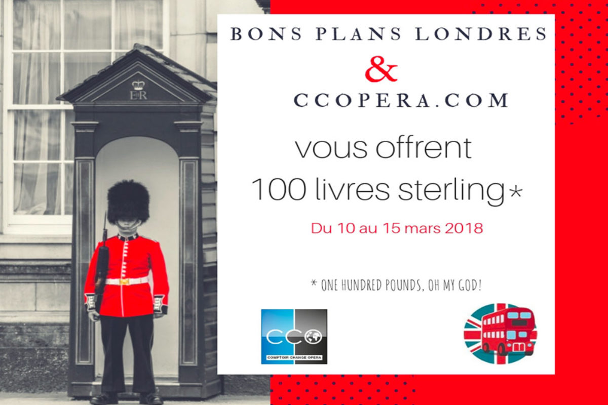 Jeu Concours Bons plans Londres Gagnez 100 Livres Sterling