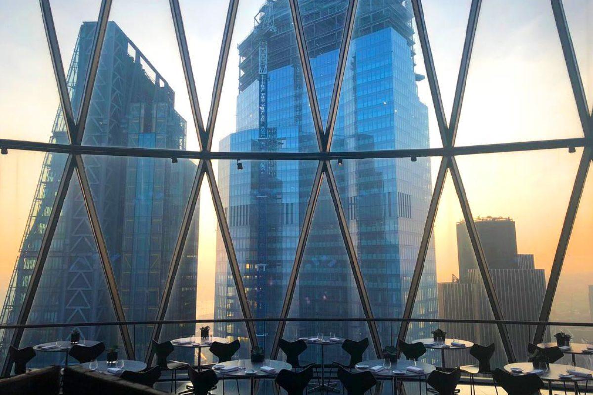 Helix le restaurant panoramique du Gherkin