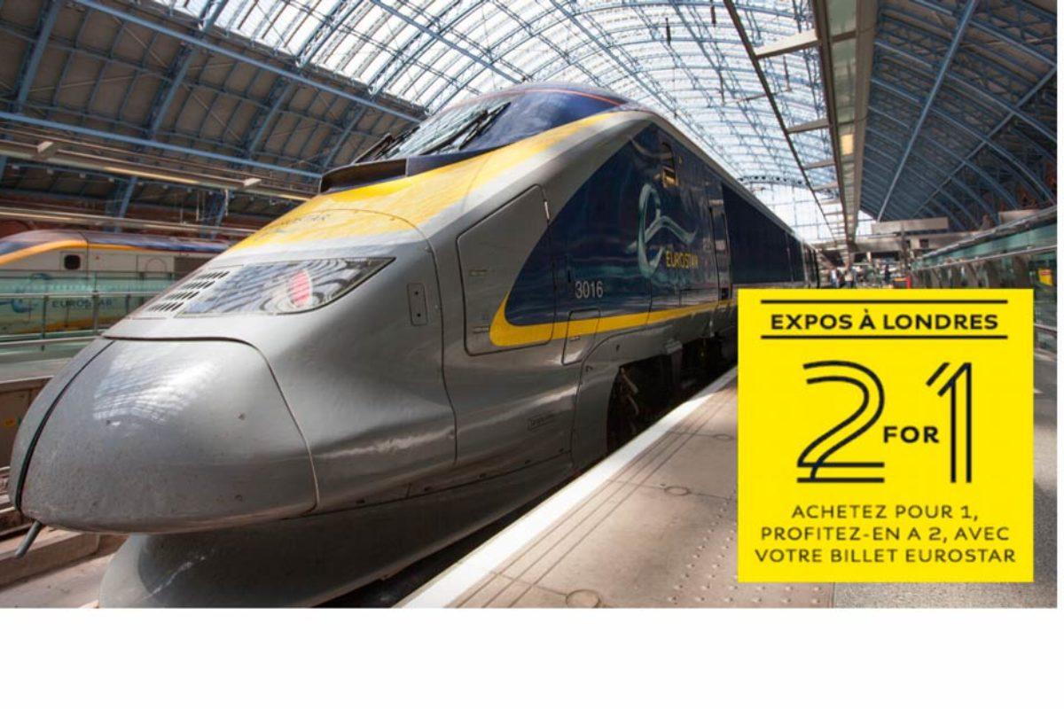 2 FOR 1 : le bon plan culturel d'Eurostar